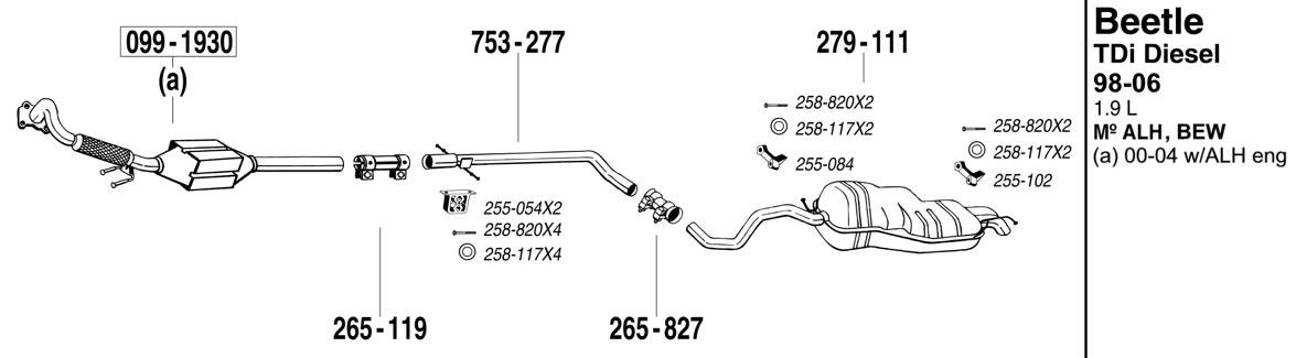 Beetleexhaust Tdi on 1999 Dodge Dakota Exhaust Diagram
