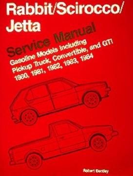 vw rabbit/scirocco service manual 1980-1984